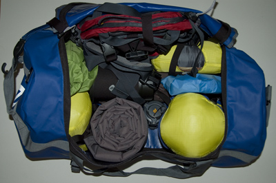 Camping Gear Packed